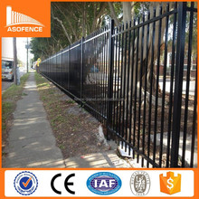 Australia market tubuloar spear top security steel fence / security metal fence panels