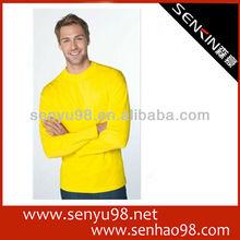 High quality silk screen printing long sleeve t-shirts from garment factory