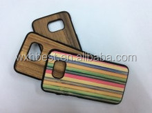 2015 Fashion Design Wood Case with Colorful Wooden Case for Samsung Galaxy S6 Edge In Stock