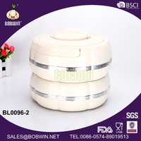 BOBWIN 2 layer arc-shaped Abs insulated food container