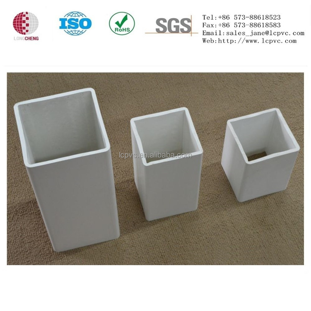 Rigid and high glossy plastic extrusions square pvc tube