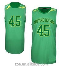 2015 reversible uniformes de baloncesto de encargo set / camisa del baloncesto, alta calidad de la sublimación camiseta de baloncesto / singlets