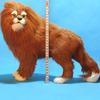 alive size Life-like Handmade soft fur real lion Animal