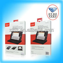 Bluetooth wireless mini keyboard with leather case for iphone 5