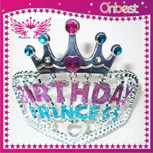 Free shipping wholesale bulk princess rhinestone pageant crowns and tiaras pearl crystal festival hair accessories bridal tiara
