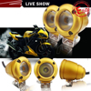 Y&T latest version 10w motor headlight gold led spot lights