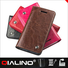QIALINO 2014 new arrival 100% genuine leather case For iPhone 5 5s case cover