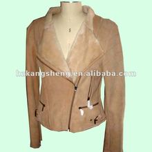 2012 100% GUARANTEED LADIES LAMB SHEARING COAT,DOUBLE FACE SHEARING JACKET,SHEARING COAT,LEATHER COAT,TOSCANA SHEARING
