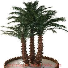 palmeras decorativas, copas de los árboles de palma artificiales