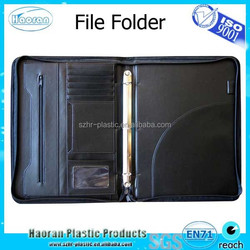 A4 leather compendium file folder ring binder