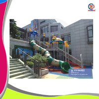 Top quality kids play center outdoor climbing system , outdoor playground for sale