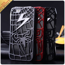 New arrival lightning Hollow out Spiderman case for iphone5
