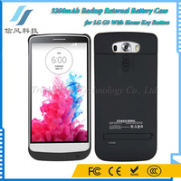 3200mAh Backup External Battery Case for LG G3 With Home Key Button Black