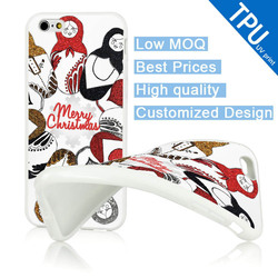 TPU Soft Merry Christmas Mobile Phone Case For iphone6 Plus