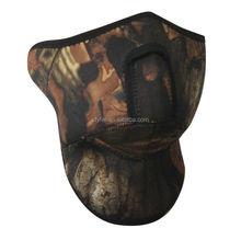 Custom Made Neoprene Windproof Face Mask , Neoprene Windproof Facemask