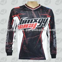 Sublimated motocross jersey with custom design