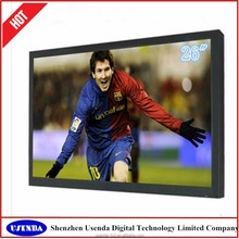 26inch ultra slim inch lcd tv, professional cctv monitor with VGA/DVI/HDMI/USB input