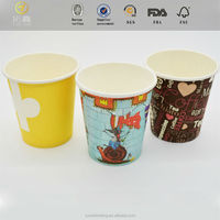 Printing colorful picture a4 paper holder cups for water