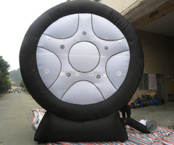 6m high inflatable tire, inflatable tire for advertising