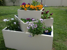 garden planting potmetal planter/galvanized steel garden bed/Metal/Tin/Box/Square/Flower Pot/Planter/Home/Garden