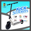Outdoor Big Wheel Kick Dirt Scooter For Kids & Adults