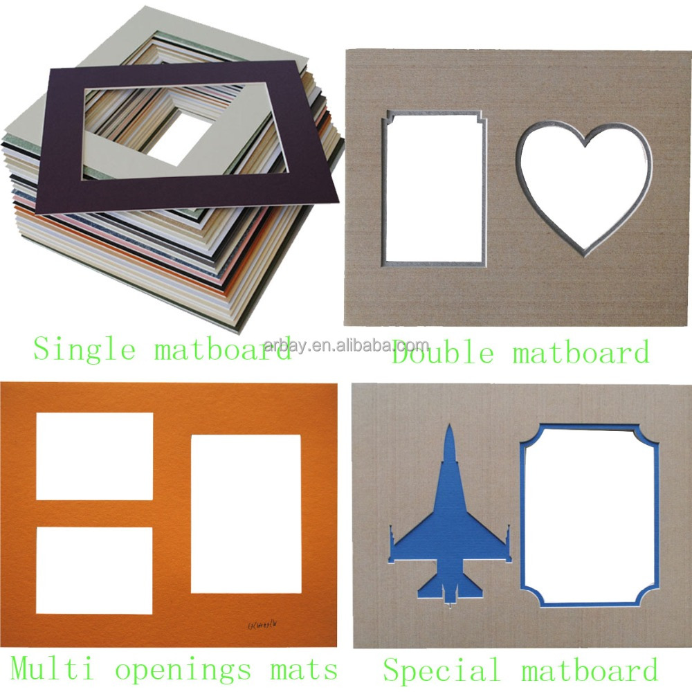 Wholesale uncut precut mount matboard mat board in paper for Craft picture frames bulk