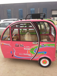 3 wheel electric tricycle for adult, passenger, close body, famous brand
