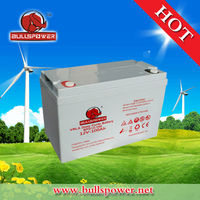 Top quality deep cycle 24v 12v 100ah gel battery for solar