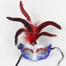 Purple christmas masquerade mask with feather party mask wholesale QMAK-1024