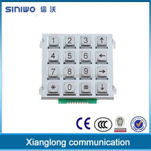 16 keys electronic keypad|custom contact keypad