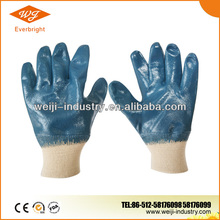 Cotton Jersey Liner, Knit Wrist, Smooth Surface, Nitrile Fully Coated Glove