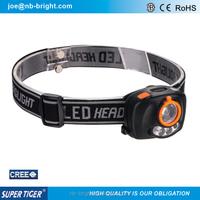 high power focus adjustable zoom headlamp with sensor