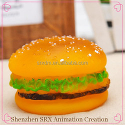 custom hamburger shaped dog pet cat puppy chew toy,custom hamburger chew squeaky toy for dog, plastic dog pet chew toy