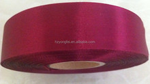 Red Slit Side 100% Polyester Satin Ribbon Roll