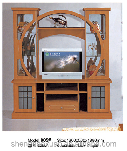 India style tv cabinet with showcase 805 led tv wall unit for Wooden showcase designs for dining room