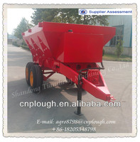 Agricultural tractor trailed manure fertilizer spreader