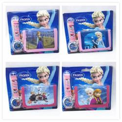 2015 latest frozen elsa cartoon accessories elsa watch+wallet combination frozen elsa watch free shipping
