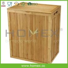 Eco-friendly bamboo bench hamper / HOMEX-FSC/BSCI