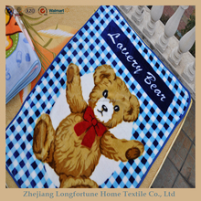100%polyester Manufactory wholesale cartoon flannel&sherpa baby toys handmade baby blanket pattern