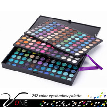 252 color fashion eye makeup eyeshadow palette,complete gloss eye artist kit