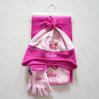 children knitted acrylic hat,gloves and scarf sofa set
