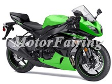 Fairings Fit Kawasaki ZX6R ZX-6R 636 09 10 ABS Motorcycle Full Fairing Kits Cowling Plastics Green Black ZX 6R 2009 2010