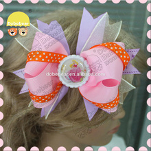 Wholesale hot sale boutique frozen western hair bow for girls