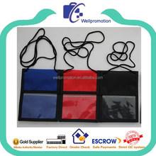 wellpromotion kundenspezifisches design billige brustbeutel badgeträger