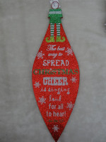 Hot Selling Colorful Paper Christmas Decoration Hang Ornaments For Door