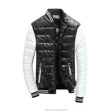 2015 new style men PU leather coat