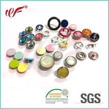 Manufacturer Custom Decorative Brass Metal Ring Cap Pearl Popper Press Studs Five Prong Snap Fasteners Buttons for Baby Garments