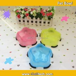 New 2015 Pet Product Pet Star Shape Plastic Bowl Dog Food Bowl