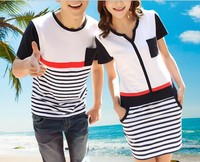 D60574T 2014 summer new style korean lovers' clothes
