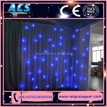 ACS Star Cloth, DJ Booth Deck Stand Curtain , White Leds For Home Party